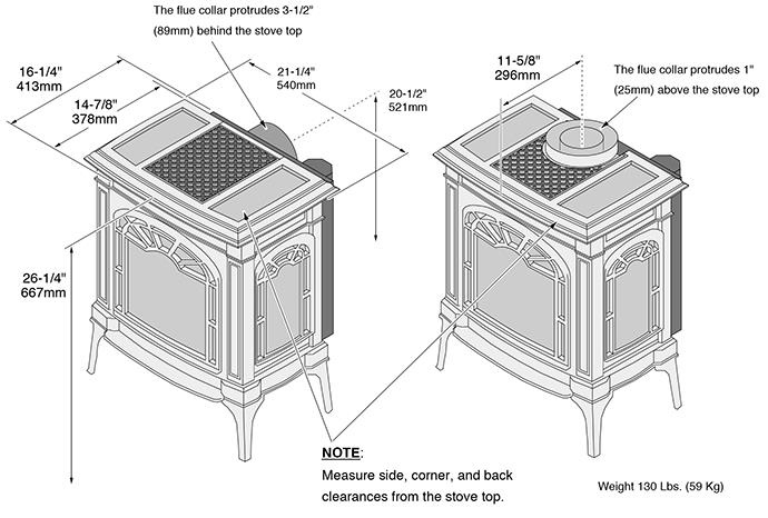 drawings for Lopi gas stove Spa Brokers