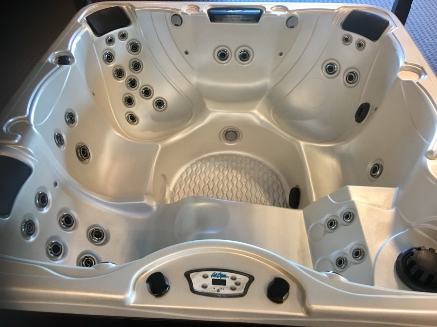 Cal Spas NEED NAME PP-732L 2017 Hot Tub spa top view showing jets and seating spa brokers