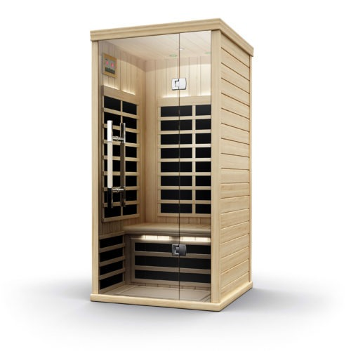 Finnleo Infrared S-810 Sauna compact unit wood with glass door spa brokers