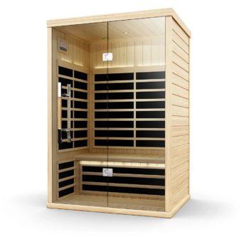 Finnleo Infrared S-820 Sauna corner model wood with glass door spa brokers