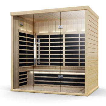 Finnleo Infrared S-830 Sauna wood with glass doors spa brokers