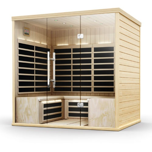 Finnleo Infrared S-880 Sauna large wood sauna with glass doors spa brokers