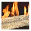 close up of flames in xtrordinair 31 DVI fireplace Spa Brokers