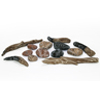 small photo of fake wood and stones used in gas fireplace Spa Brokers
