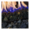 small close up photo of flames in an Xtrordinair fireplace Spa Brokers