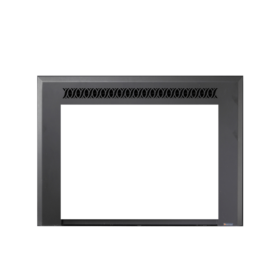 photo of xtrordinair black gas fireplace insert with simple design on top spa brokers