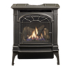 small photo of Lopi brand traditional black gas stove Spa Brokers