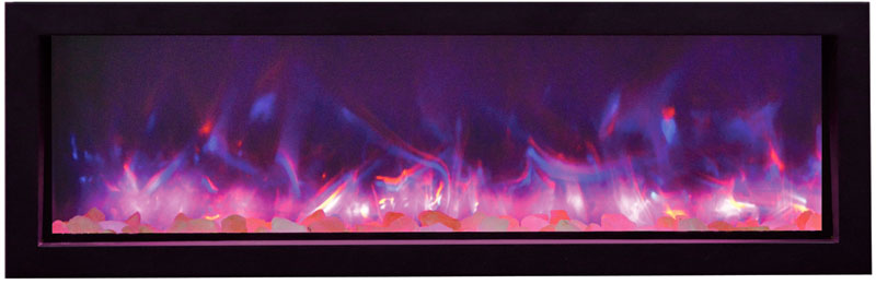 amantii electric fireplace with multi colored flames Spa Brokers