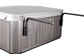 Leisure Concepts - Cover Shelf bars showing after cover goes on hot tub spa brokers