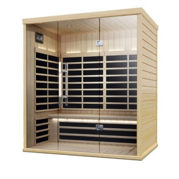 Finnleo Infrared S-825 Sauna wood with glass doors spa brokers
