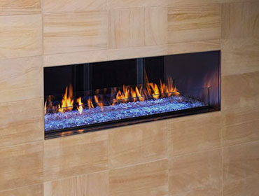 HEAT N GLO PALAZZO 48 SEE THROUGH OUTDOOR GAS FIREPLACE
