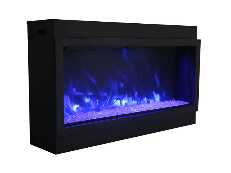 amantii electric fireplace with blue flames Spa Brokers