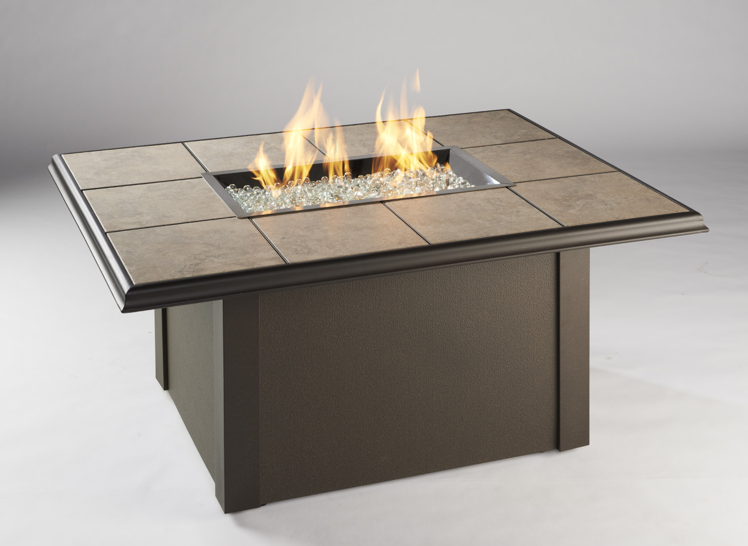 Napa Valley Fire Pit Table With Brown Metal Base Spa Brokers