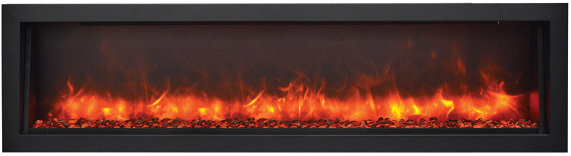 amantii large electric fireplace with orange and red flames Spa Brokers