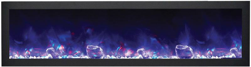 amantii electric fireplace with blue and purple flames Spa Brokers