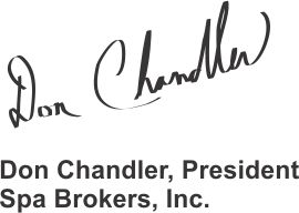 signature of Don Chandler president of Spa Brokers