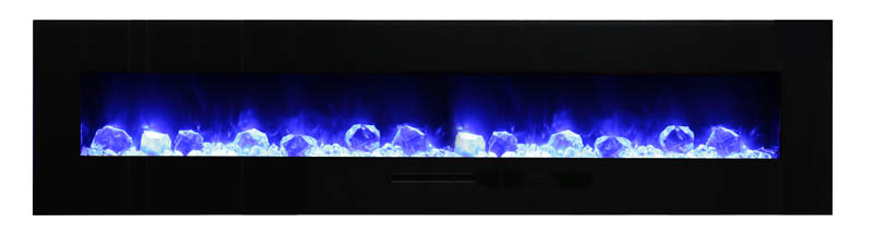 cool blue flames in electric fireplace Spa Brokers