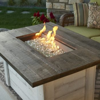alcott rectangle gas fire pit table Spa Brokers