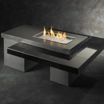 modern black uptown fire pit spa brokers