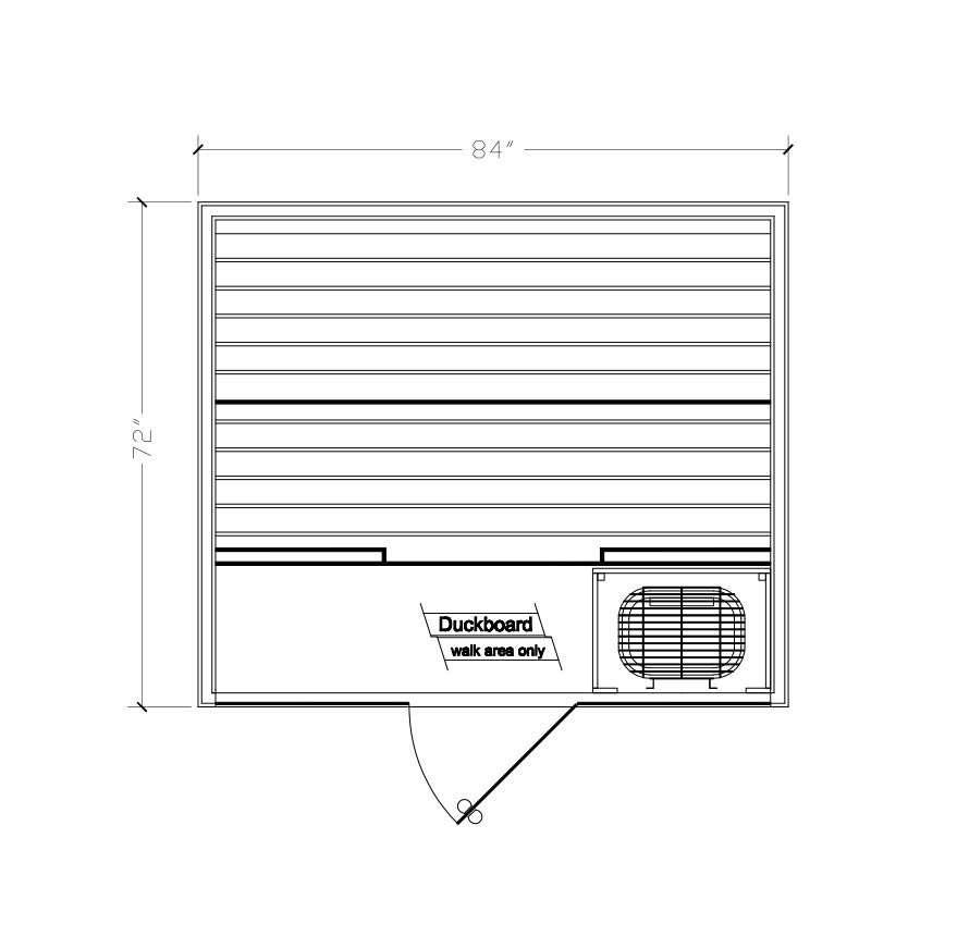 drawing and dimensions of finnelo serenity sauna Spa Brokers