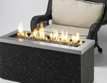 key largo open fire pit with glass contemporary spa brokers