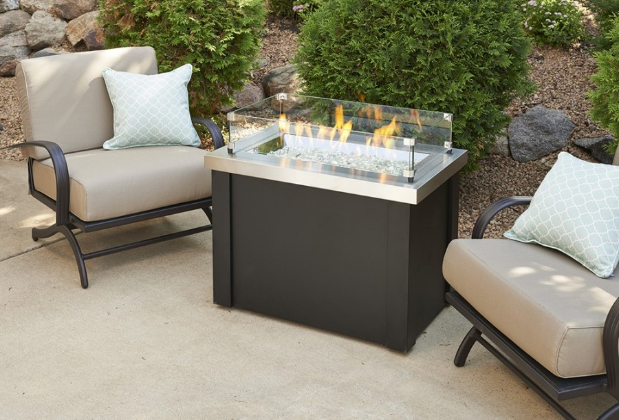 Providence Fire Pit Table with Stainless Steel Top