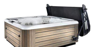 smart top hot tub cover open on side Spa Brokers Denver