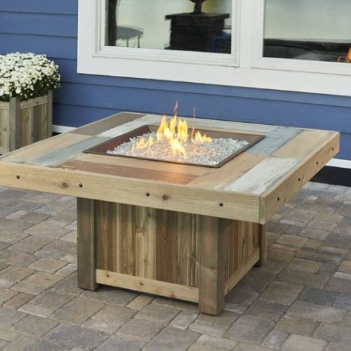square vintage wood 2424 fire table spa brokers