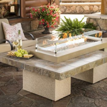 uptown brown fire pit contemporary spa brokers